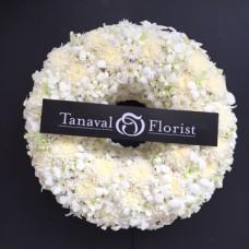 White wreath พวงหรีด W1702