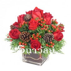 Christmas Arrangement 1803(round type arrangement)